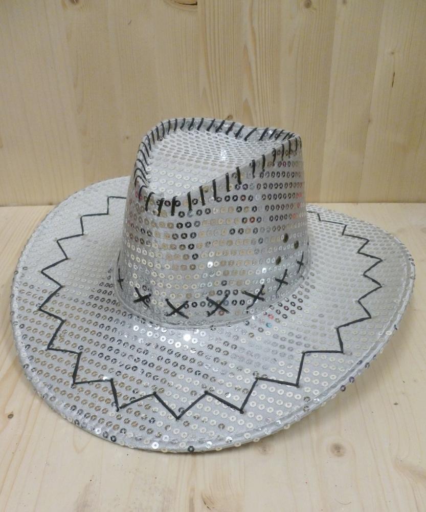Chapeau-Saloon-paillet�-argent