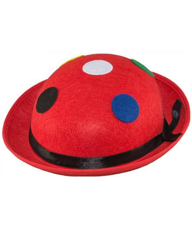 Chapeau-Melon-rouge-pois