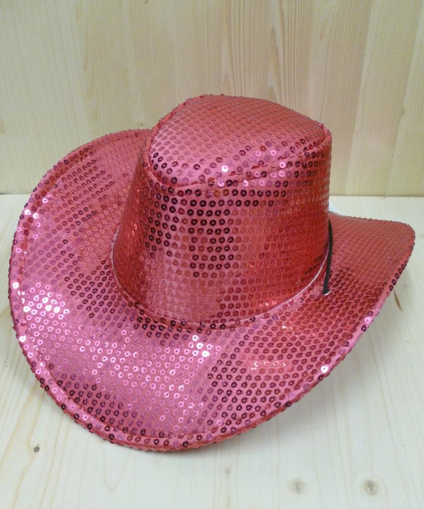 Chapeau-Saloon-pailleté-rose