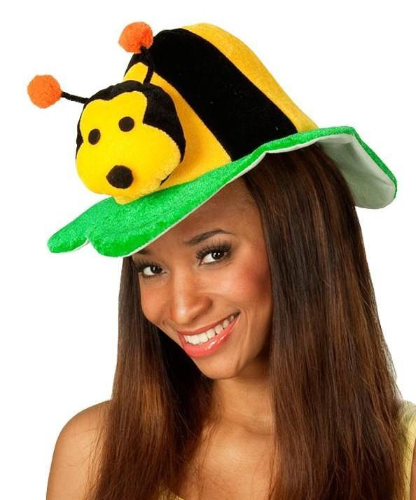 Chapeau-abeille-sur-tête