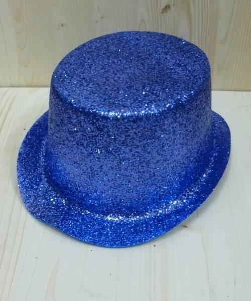 Haut-de-forme-bleu-pailleté