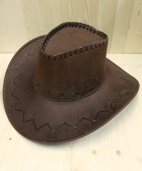 Chapeau-de-cowboy-en-suédine-marron