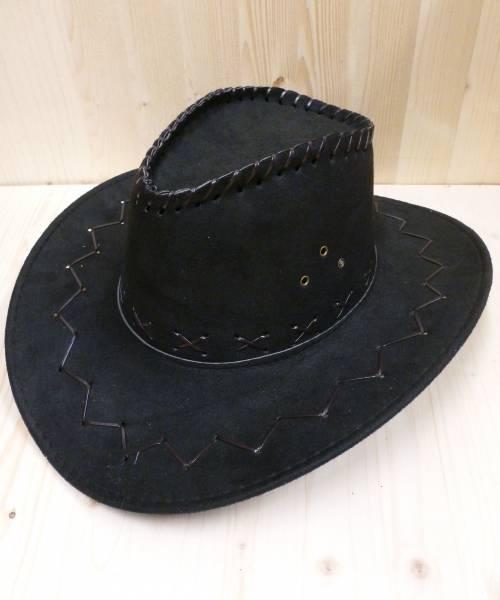 Chapeau-Cowboy-en-suédine-noir