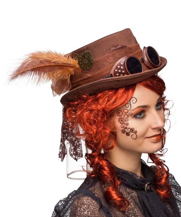 Chapeau-Steampunk-brun-marron