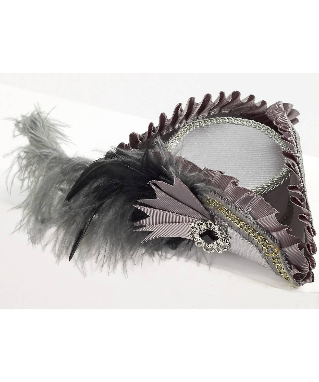 Mini-chapeau-de-pirate-gris-pour-femme