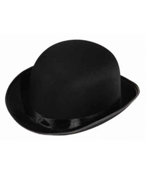 Chapeau-Melon-satin-noir
