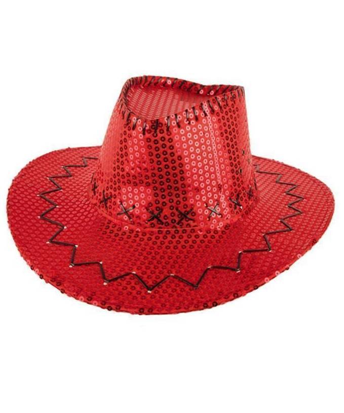 Chapeau-Cowboy-paillettes-rouge