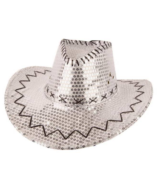 Chapeau-Cowboy-pailleté-argent