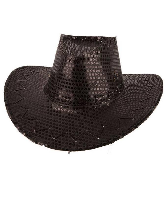 Chapeau-Cowboy-paillettes-noir