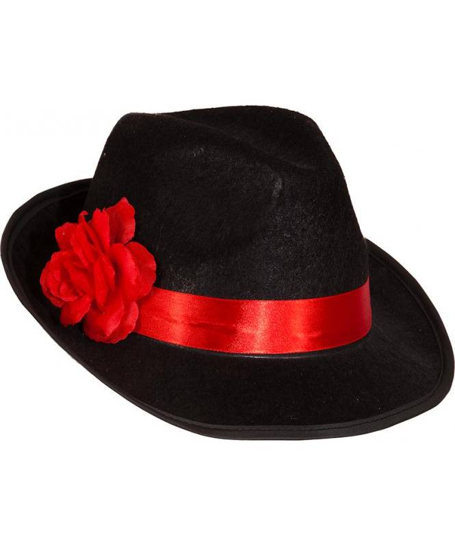 Chapeau-borsalino-noir-fleur