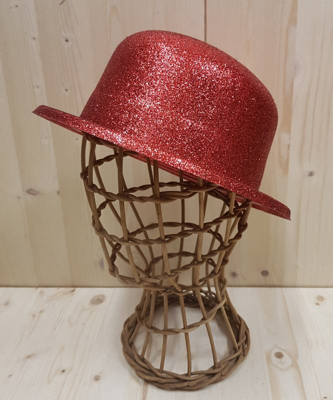 Chapeau-Melon-rouge-pailleté