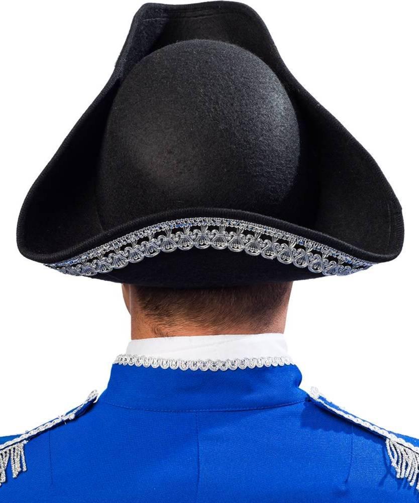 Chapeau-Tricorne-noir-et-argent-3