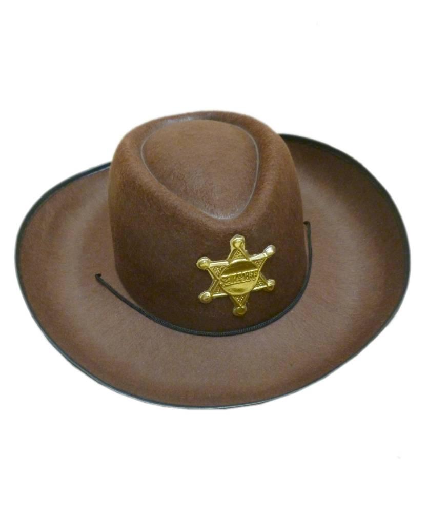 Chapeau-de-cowboy-enfant-marron