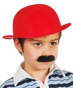 Chapeau-Melon-Rouge-Enfant-Floqu�-par-2