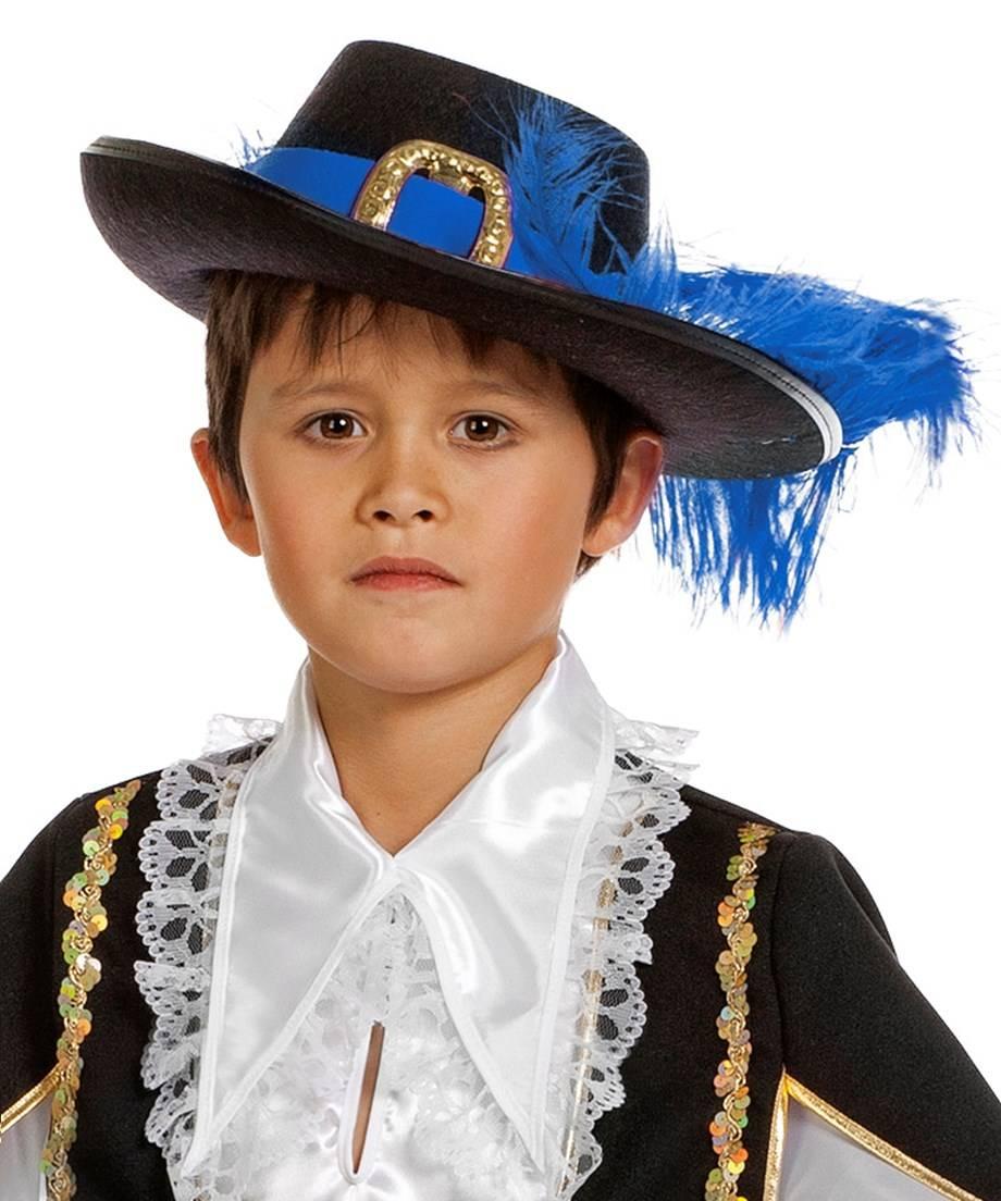 Chapeau-Mousquetaire-Enfant-bleu