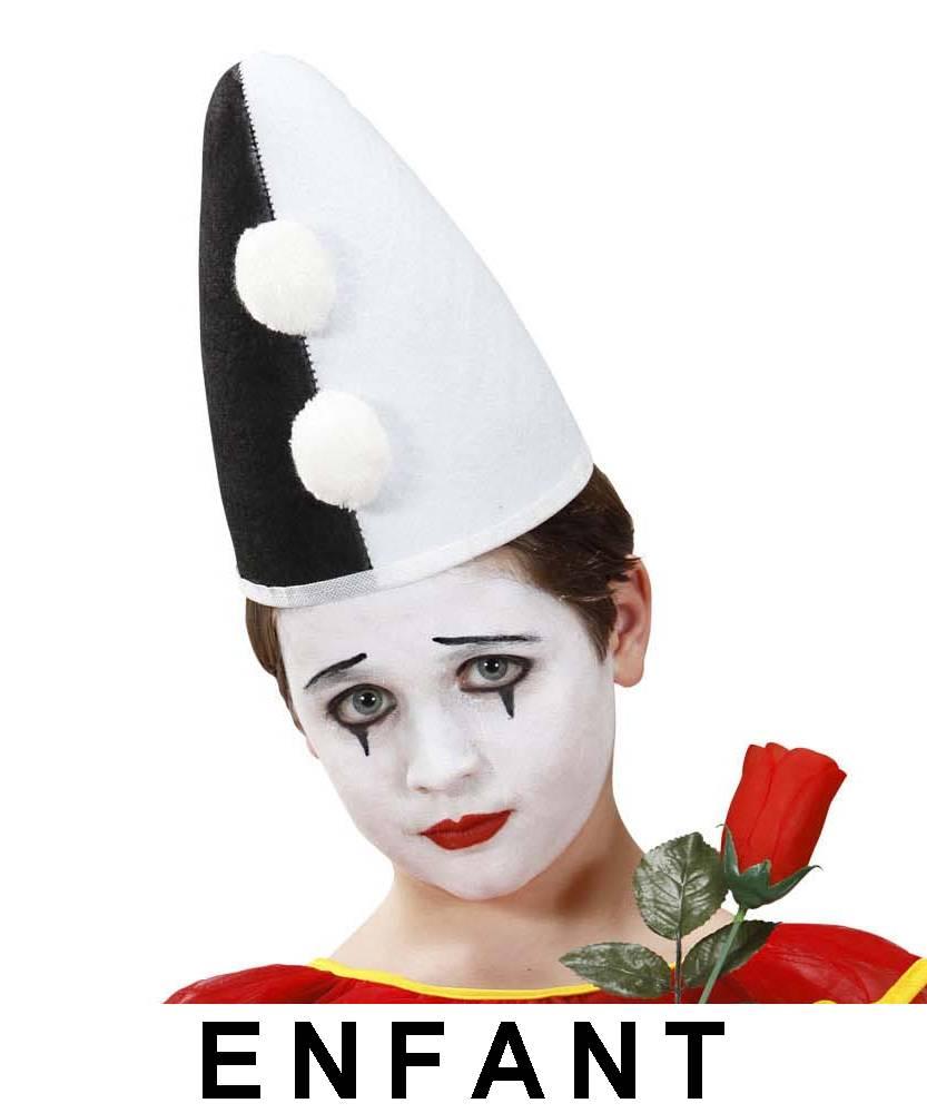Chapeau pierrot enfant noir et blanc ac2084 - Photo noir et blanc enfant ...