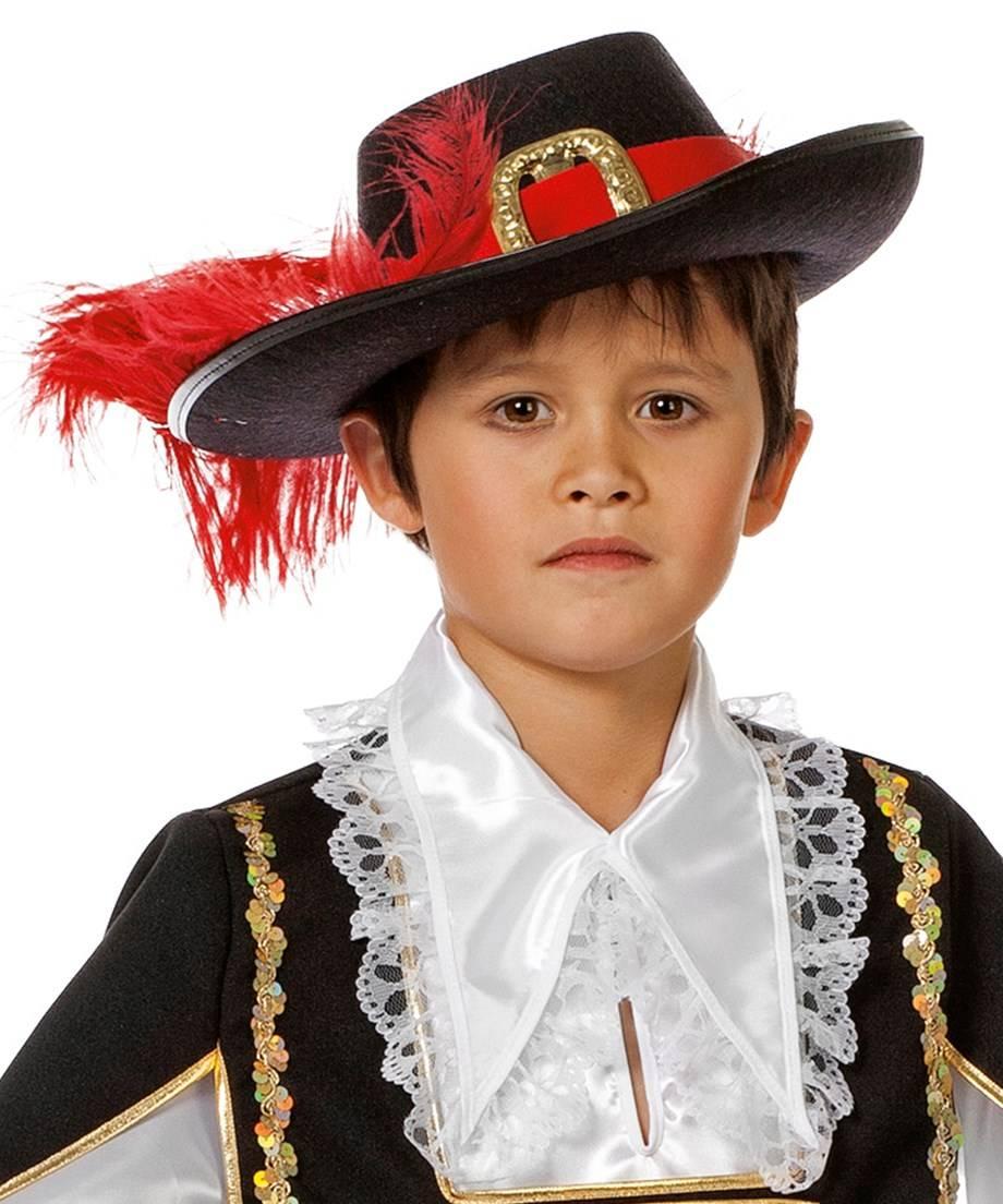 Chapeau-Mousquetaire-Enfant-rouge