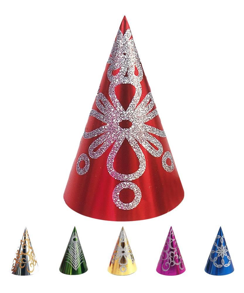 Chapeaux-paillettes-en-carton-x6