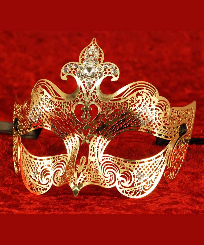 Masque-métal-doré