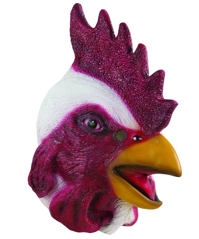 Masque-de-coq-blanc