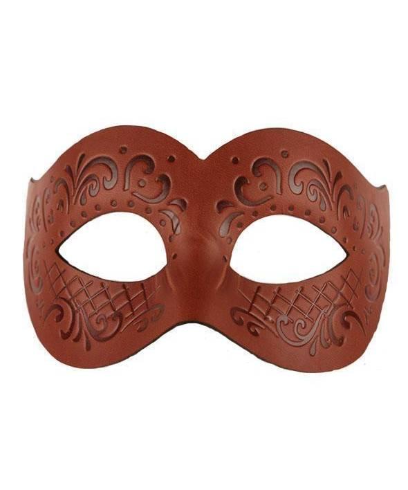 Masque-cuir-brun