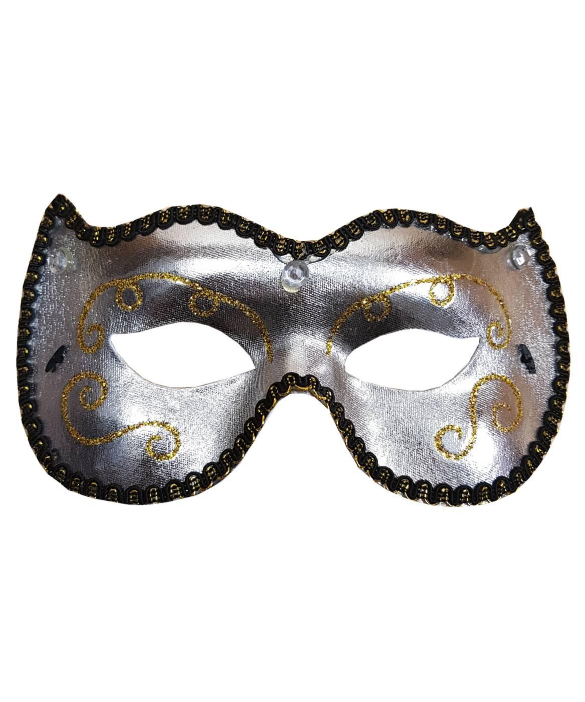 Masque-venise-argenté