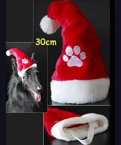 bonnet noel chien Bonpere noël ami 30cm An0079 bonnet noel chien