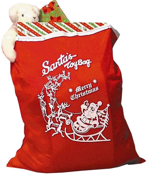 Weihnachtsmann-Sack-stoff