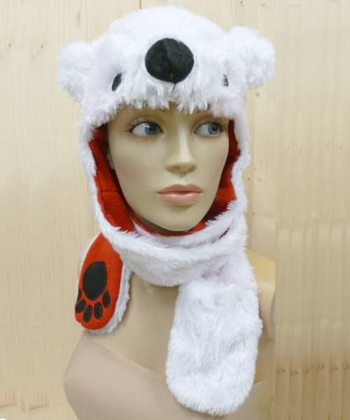 Bonnet-de-Noël-Ours-Blanc