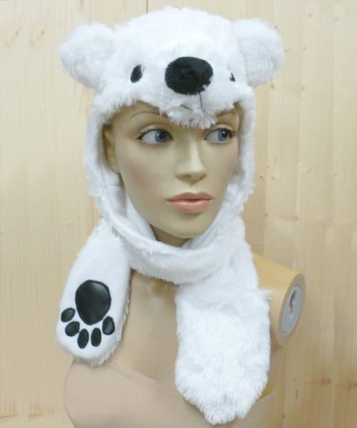 Bonnet-de-Noël-lumineux-Ours-Blanc-Led