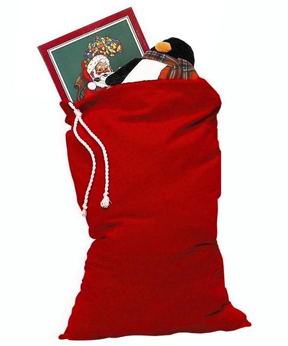 Weihnachtsmann-Sack-Samt-M2