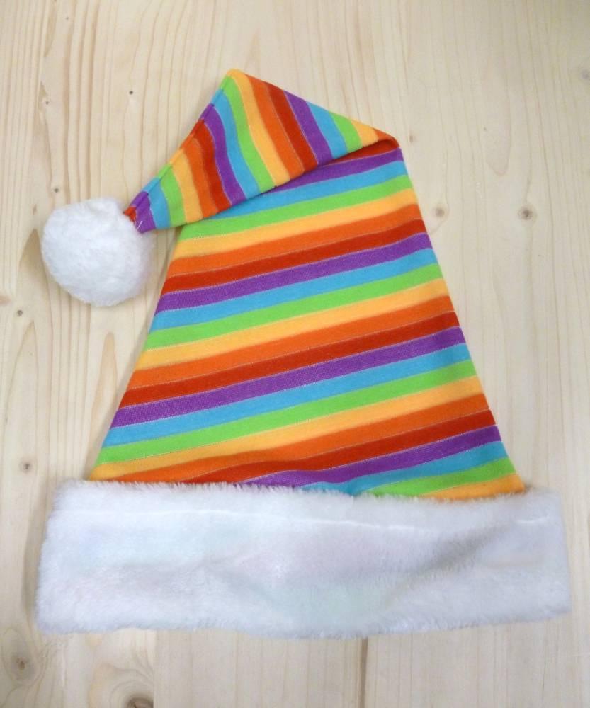 Bonnet-Noël-Arc-en-ciel
