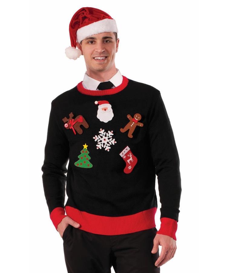 Pull-de-Noël-moche---lot-de-6-pins