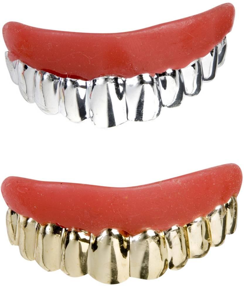 Faux-dentier-dent-métal