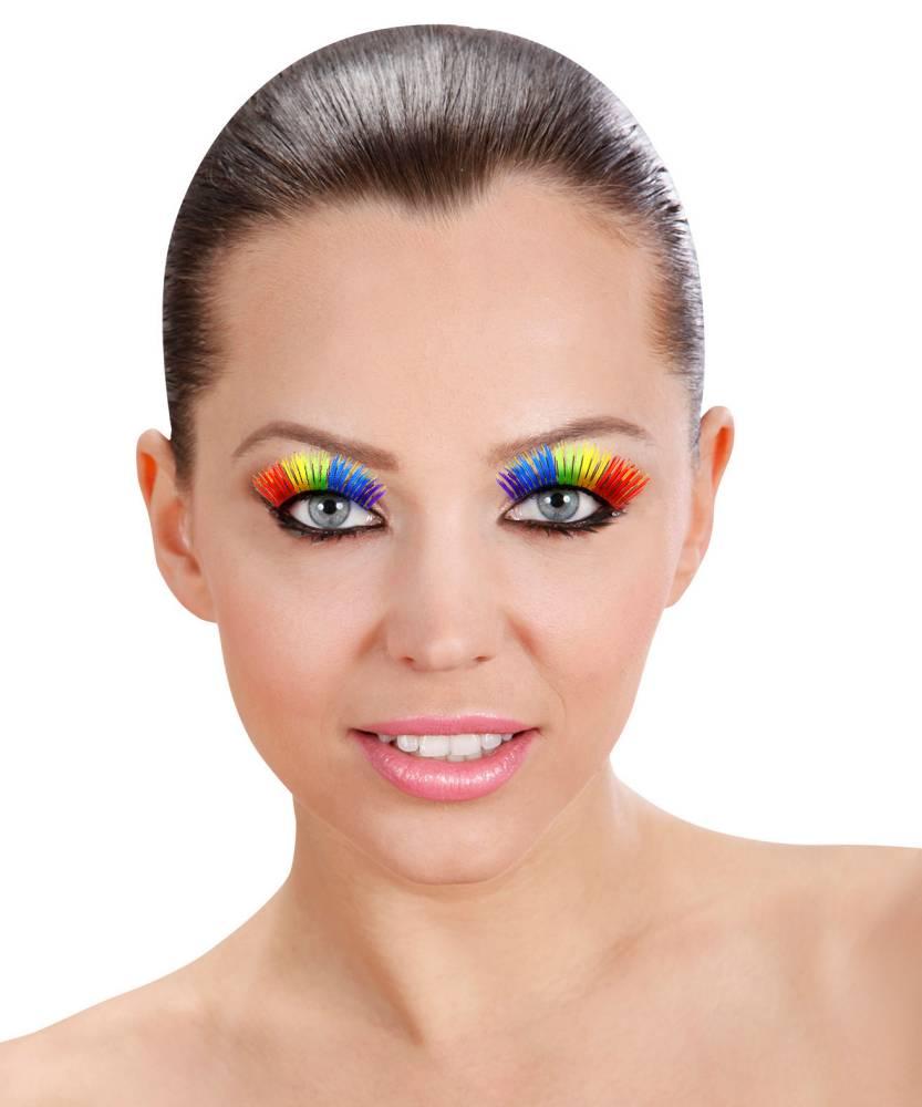 Faux-cils-multicolore