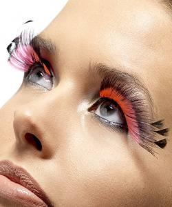 Faux-cils-plumes-noir-rouge