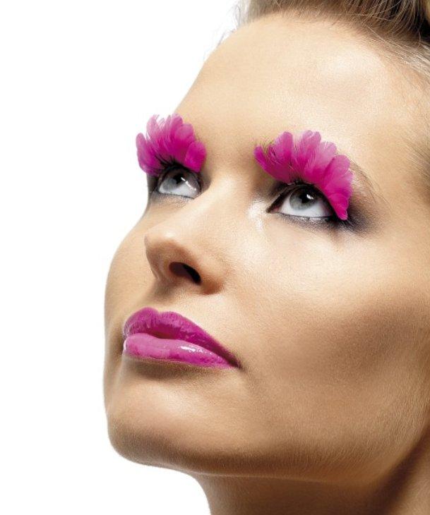 Faux-cils-plumes-rose-M1