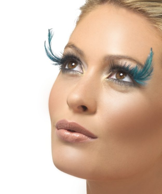 Faux-cils-plumes-Turquoise-M5