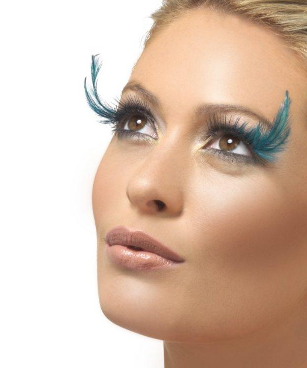 Faux-cils-plumes-Turquoise-M5