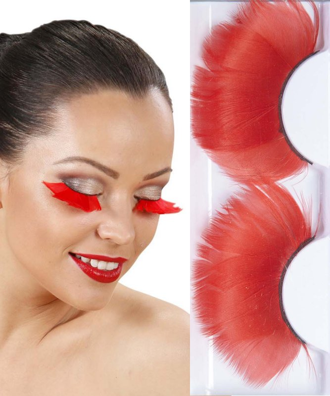 Faux-cils-plumes-rouges-Jumbo