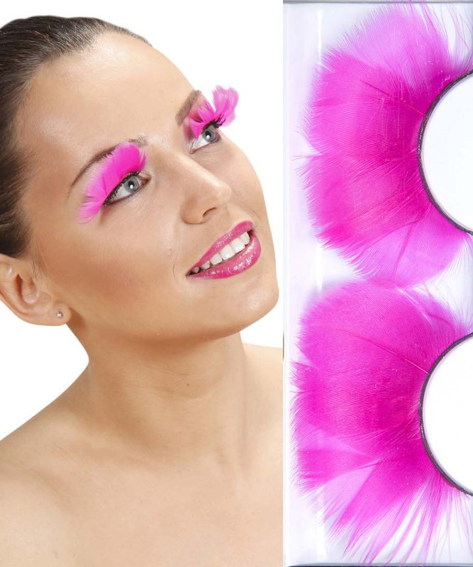 Faux-cils-jumbo-plumes-rose