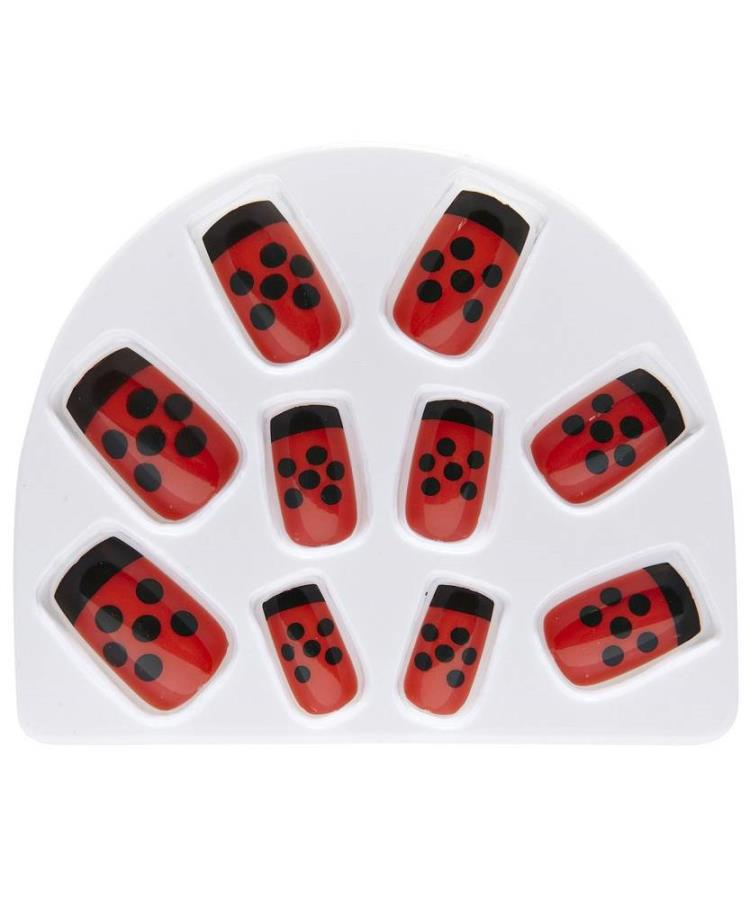 Faux-ongles-coccinelle-1