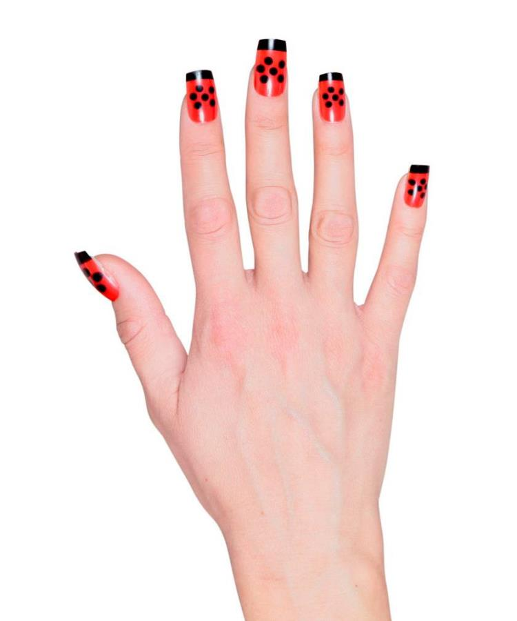 Faux-ongles-coccinelle