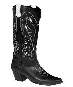 Bottes-Country-noir-F1