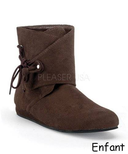 Boots-m�di�vales-brun-T1-Tailles-36-40