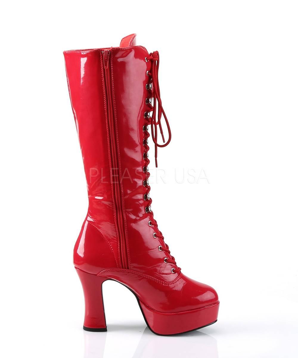 Bottes-rouges-lacées-5