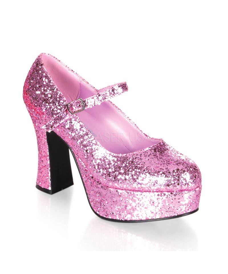 Chaussures-paillettes-roses