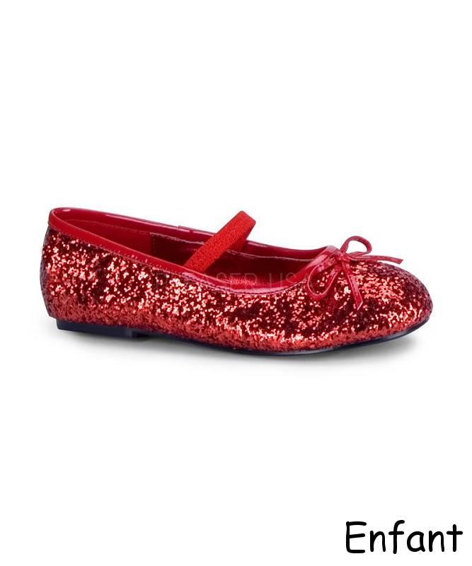 Ballerines-enfant-rouge
