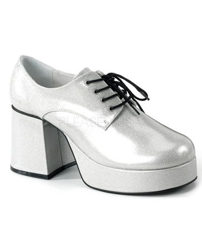 Chaussures-Disco-Homme-argent