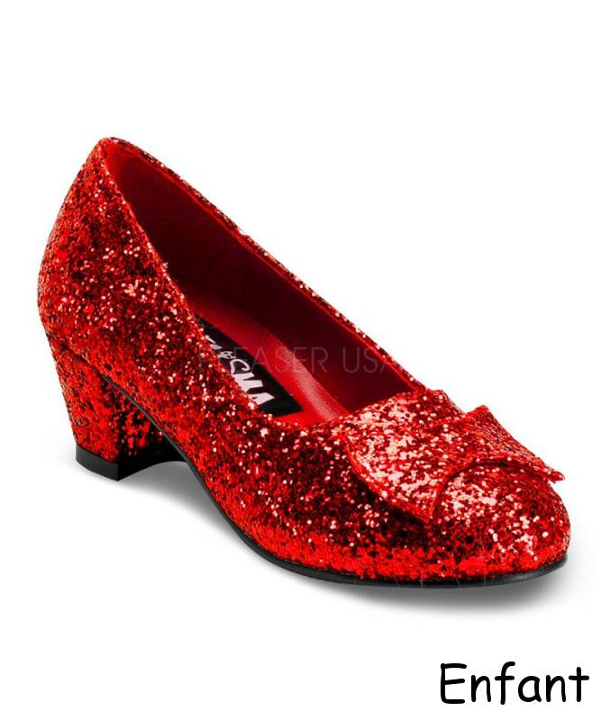 Chaussures rouges fille